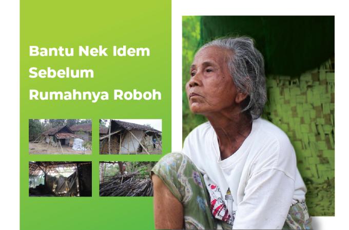 Gambar banner Bantu Nek Idem Sebelum Rumahnya Roboh