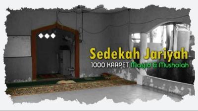 Banner Program Sedekah Jariyah 1000 Karpet Masjid                                      title=