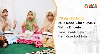 Banner program Kado Cinta untuk 200 Anak Yatim Dhuafa