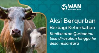 Banner program Bahagiakan Keluarga Dhuafa Nusantara dengan Qurbanmu