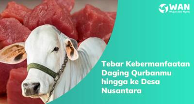 Banner program Patungan Daging Qurban Solusi Berbagi Dalam Keterbatasan