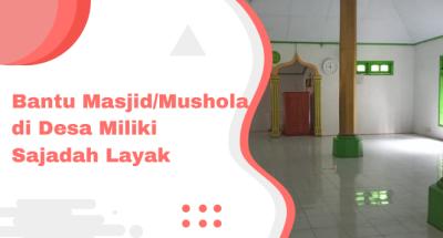 Gambar banner Aksi Tebar Sajadah untuk Mushola Pelosok Nusantara