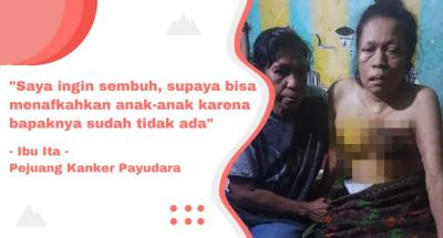 Banner program Bantu Ibu Ita Berjuang Melawan Kanker Payudara
