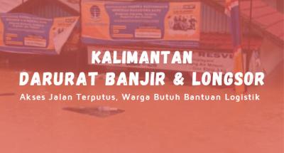Banner Program Aksi Bantu Korban Banjir Bandang Kalimantan                                      title=