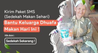 Gambar banner Sedekah Makan Sehari untuk Keluarga Dhuafa