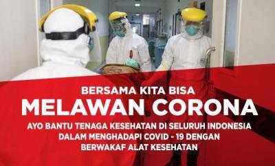 Banner Program Wakaf Alat Kesehatan , bersama kita bisa Melawan Corona                                      title=