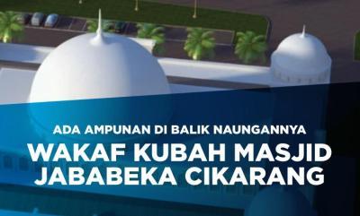 Banner Program Wakaf Kubah Masjid Raya Al Azhar Cikarang                                      title=