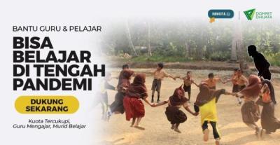 Banner program Bantu Guru Agar Memiliki Kuota Untuk Belajar