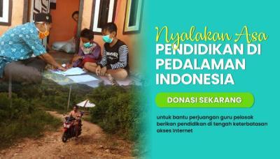 Banner Program Nyalakan Asa Pendidikan di Pedalaman Indonesia                                      title=