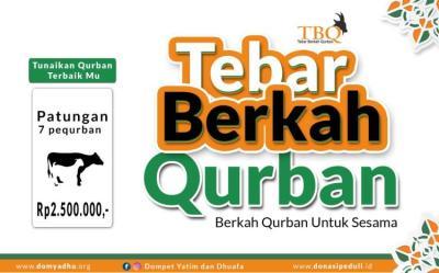 Banner program TEBAR BERKAH QURBAN SAPI PATUNGAN