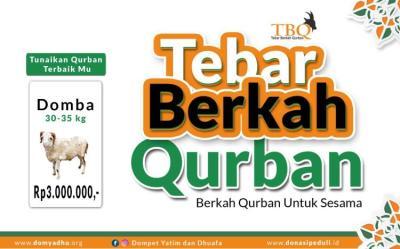 Banner program Tebar Berkah Qurban Domba