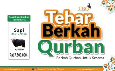 Banner program Tebar Berkah Qurban Sapi