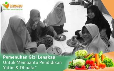Banner Program SEDEKAH MAKANAN BERGIZI UNTUK ANAK YATIM DAN DHUAFA.                                      title=