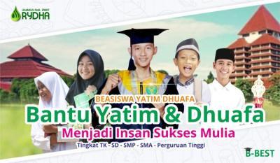 Gambar banner Bantu Bayar Sekolah Yatim dan Dhuafa