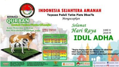Banner program Qurban Sapi Kambing
