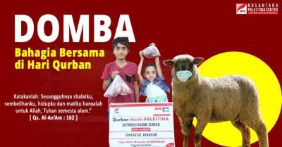 Banner program Qurban Domba Palestina