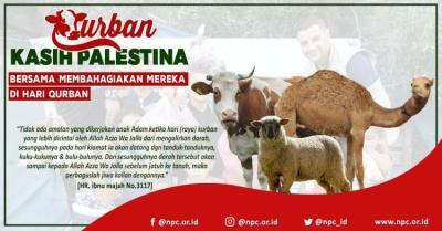 Banner program Sedekah Qurban untuk Palestina