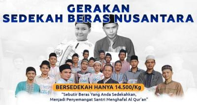 Gambar banner Gerakan Sedekah Beras Nusantara