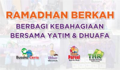 Banner Program Ramadhan Berkah Berbagi Kebahagiaan Bersama Yatim dan Dhuafa                                      title=