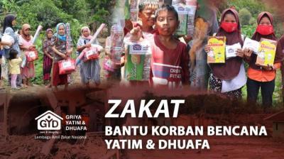 Gambar banner Zakat Untuk Yatim  Dhuafa Korban Bencana