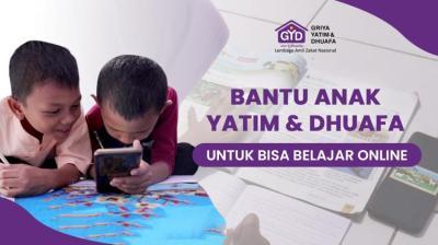 Gambar banner Bantu Ratusan Anak Yatim dan Dhuafa Bisa Belajar Online