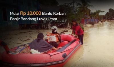 Banner Program Banjir Bandang Terjang Masamba Luwu Utara, Mari Kirim Bantuan                                      title=