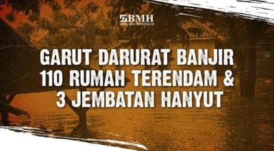 Banner program Darurat, selamatkan Korban Banjir Garut