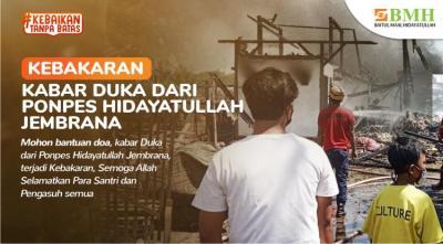 Gambar banner Bantuan untuk Santri Terdampak Kebakaran
