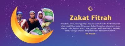 Banner program SALING BANTU SESAMA DENGAN ZAKAT FITRAH