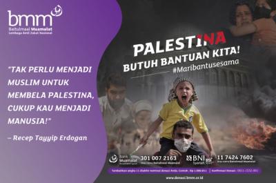Gambar banner Palestina di Serang, Mereka Butuh Bantuan Kita