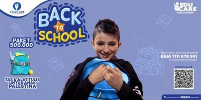 Banner program BACK TO SCHOOL UNTUK ANAK PALESTINA