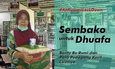 Gambar banner Antisipasi Lock Down, Sembako untuk Dhuafa