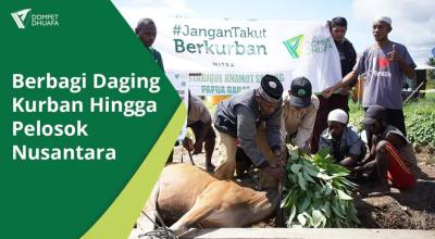 Banner program SEDEKAH DAGING KURBAN HINGGA PELOSOK NEGERI