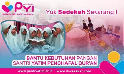 Banner Program Berbagi Makan dengan Yatim Tahfiz Penghafal Al-Quran                                      title=