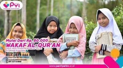 Banner Program Wakaf Quran Untuk Yatim Penghafal Quran                                      title=
