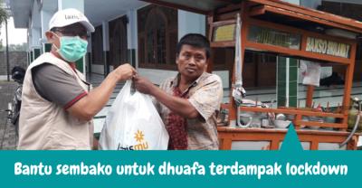 Banner Program Bantu Sembako Untuk Dhuafa Terdampak Lockdown                                      title=