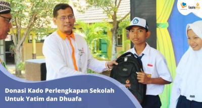 Banner program 1000 Alat Sekolah Untuk Yatim Dhuafa