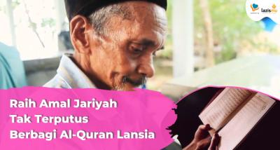 Banner program Sedekah Al-Quran Untuk Lansia Tidak Mampu