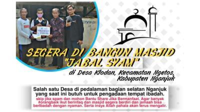 Banner Program Bantu Pembangunan Masjid Jabal Syam                                      title=