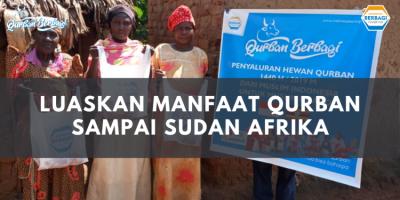Banner program Luaskan Manfaat Qurban Sampai Sudan Afrika