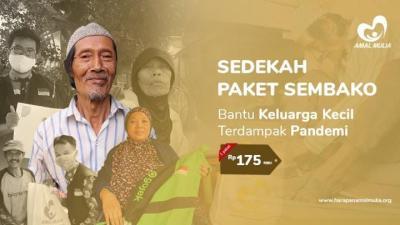 Banner Program Paket Sembako, Bantu Keluarga Kecil Terdampak Corona                                      title=