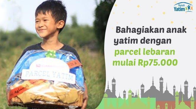 Banner Program Kado Lebaran untuk 10.000 Yatim dan Dhuafa                                      title=