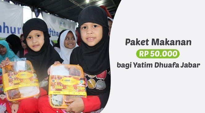 Banner Program Yatim Dhuafa Jawa Barat Tidak Bisa Berbuka Puasa                                      title=