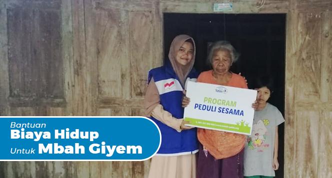 Banner Program Bantu Biaya Hidup Mbah Giyem                                      title=