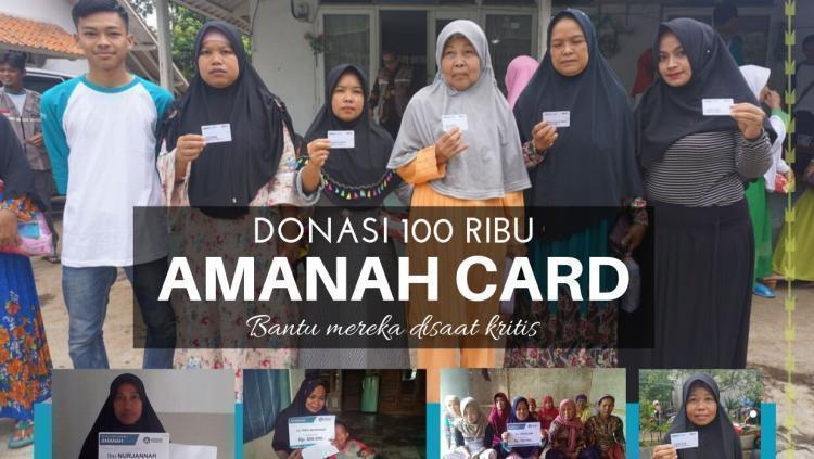 Banner program Donasi Amanah Card