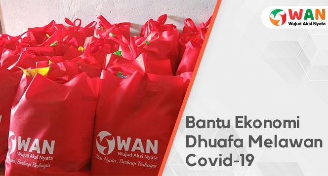 Banner program Bagikan Sembako Gratis untuk Dhuafa Terdampak Wabah Covid-19