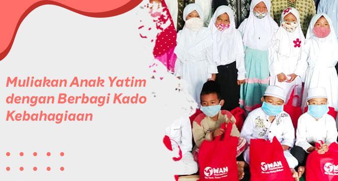 Banner program Berbagi Kado Kebahagiaan untuk Anak Yatim