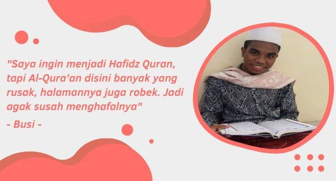 Banner program Aksi Tebar Alquran Nusantara