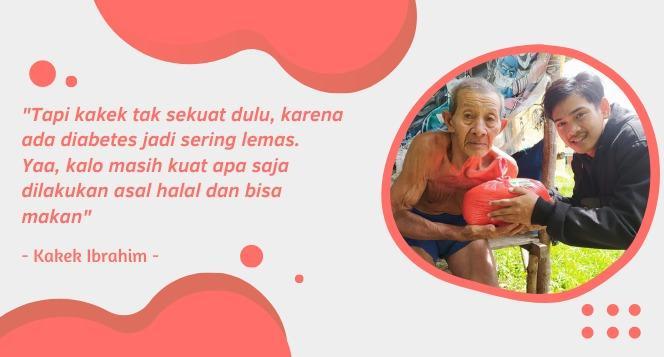 Banner program Bantu Ringankan Beban Hidup Kakek Ibrahim
