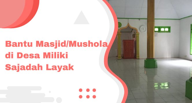 Banner program Aksi Tebar Sajadah untuk Mushola Pelosok Nusantara